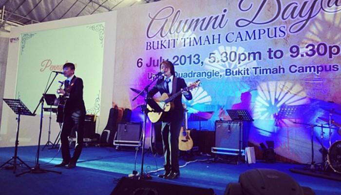Playing for President Tony Tan at Bukit Timah Campus